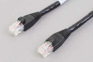 カテゴリ 6 LANクロスケーブル UTP 1000BASE-Tクロス結線(より線、ブラック)