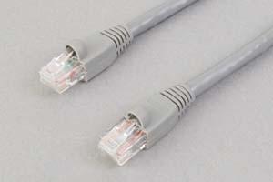カテゴリ 6 LANケーブル UTP ストレート結線(より線、グレー)