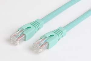 カテゴリ 6A LANケーブル UTP ストレート結線(10ギガ対応、より線、アクア色)