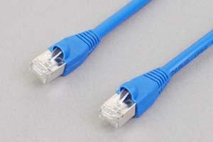 カテゴリ 6 LANケーブル STP(FTP) ストレート結線(シールド、より線、ブルー)