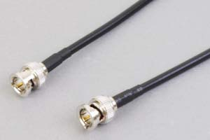 75オーム同軸ケーブル BNCオス-BNCオス (両側ストレート型端子、JIS規格3C-2V電線タイプ)