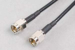 50オーム同軸ケーブル SMAオス-SMAオス (MIL規格RG-174電線タイプ、JIS規格1.5D-2V相当) 【在庫限り販売中止】