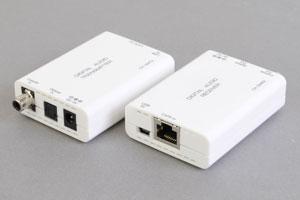 デジタル音声信号(同軸デジタル/光音声端子) エクステンダー:最大150m延長(音声信号延長器:UTPケーブル(1本)延長型)