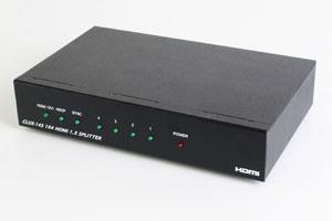 HDMI信号スプリッター ハイエンドタイプ(1入力4分岐、HDMI Ver1.3対応 分配器)