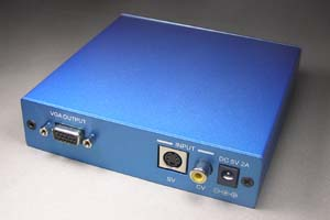 ビデオスケーラ (コンポジット映像/S端子映像 ⇒ アナログRGB(VGA)信号 or コンポーネント信号 アップスキャンコンバータ(映像信号変換器))