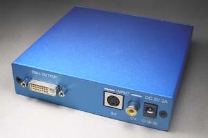 ビデオスケーラ (S-ビデオ信号 or コンポジット信号 ⇒ DVI-I 信号 アップスキャンコンバータ(映像信号変換器))