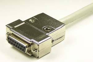 EMI対策 Dsubケーブル 15pin 丸ケーブル(片側メス、M2.6ショートネジ)