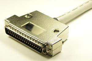 EMI対策 Dsubケーブル 37pin 丸ケーブル(片側オス、M2.6ショートネジ)