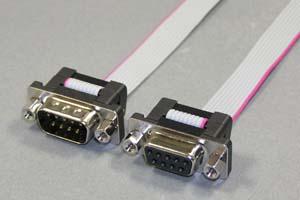 Dsubケーブル 9pin フラットケーブル(オス-メス、M2.6ロックナット)