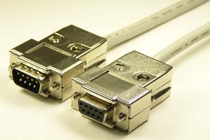 EMI対策 Dsubケーブル 9pin 丸ケーブル(オス-メス、M2.6ショートネジ)