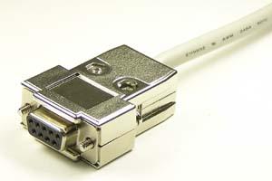 EMI 対策 Dsubケーブル 9pin 丸ケーブル(片側メス、♯4-40ショートネジ)