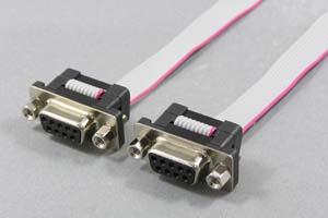Dsubケーブル 9pin フラットケーブル(メス-メス、M2.6ロックナット)