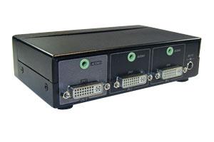 DVI-D+オーディオ信号セレクター(DVI-Dシングルリンク+3.5mmステレオミニ音声信号切替器:2入力1出力タイプ)