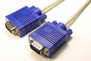 ディスプレイケーブル 15芯全線結線タイプ、アナログRGB ミニD-sub15pinオス-ミニD-sub15pinオス