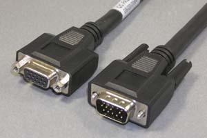 ディスプレイケーブル アナログRGB ミニD-sub15pinオス-ミニD-sub15pinメス <延長用>