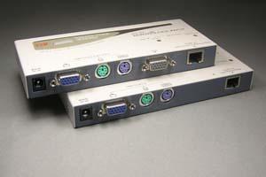 KVM エクステンダー (コンソールエクステンダー): 最大150m延長  (コンソール:PS2キーボード/ディスプレイ/PS2マウス延長器:UTPケーブル(LANケーブル)延長型) 【在庫限り販売中止】