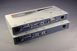KVM エクステンダー (コンソールエクステンダー): 最大150m延長 (コンソール:USBキーボード/USBマウス/ディスプレイ延長器:UTPケーブル(LANケーブル)延長型) 【在庫限り販売中止】