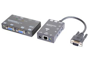 アナログRGB 信号エクステンダー (VGA信号エクステンダー) : 最大200m延長  (アナログRGB信号延長器:スキュー調整可能タイプ/UTP(LAN)ケーブル延長型) 【在庫限り販売中止】