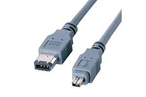 【サンワサプライ】IEEE1394ケーブル(6pinオス-4pinオス・ダークグレー) 【在庫限りで販売中止】