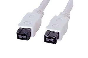 【サンワサプライ】IEEE1394bケーブル 9Pinオス-9Pinオス(ホワイト)