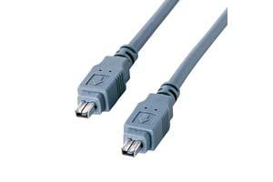 【サンワサプライ】IEEE1394ケーブル 4pinオス-4pinオス 【在庫限りで販売中止】