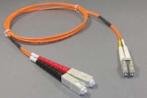 光ファイバーケーブル マルチモード 50ミクロン(LC-SC、Duplexタイプ)