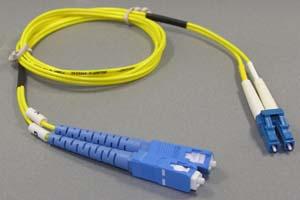 光ファイバーケーブル シングルモード (LC-SC、2芯Duplexおよび単芯Simplexタイプ)