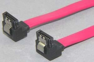 SATA 2.0ケーブル ラッチ付きタイプ コネクタタイプ:両側 L型(逆方向)