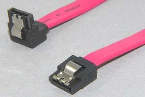 SATA 2.0ケーブル ラッチ付きタイプ コネクタタイプ:片側ストレート/片側 L型(逆方向)