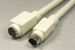 マウス延長用ケーブル(PS/2タイプ) ミニDIN6Pinオス-ミニDIN6Pinメス