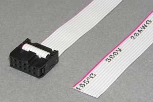 MILソケットケーブル 10pin フラットケーブル(片側メス、極性ガイド外向き)
