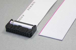 MILソケットケーブル 20pin フラットケーブル(片側メス、極性ガイド外向き)
