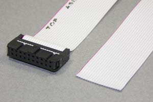 MILソケットケーブル 20pin フラットケーブル(片側メス、極性ガイド内向き)