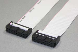 MILソケットケーブル 20pin フラットケーブル(メス-メス、ストレート結線)