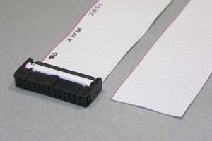 MILソケットケーブル 26pin フラットケーブル(片側メス、極性ガイド外向き)