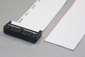 MILソケットケーブル 26pin フラットケーブル(片側メス、極性ガイド内向き)
