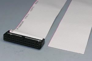MILソケットケーブル 34pin フラットケーブル(片側メス、極性ガイド内向き)