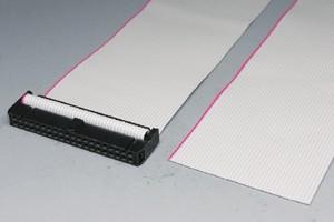 MILソケットケーブル 40pin フラットケーブル(片側メス、極性ガイド外向き)