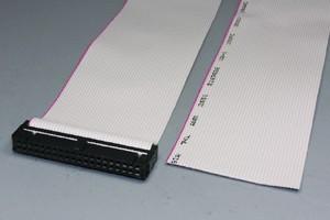 MILソケットケーブル 40pin フラットケーブル(片側メス、極性ガイド内向き)