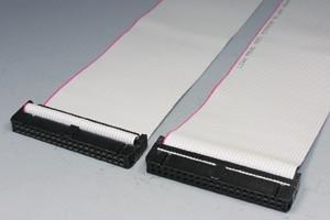 MILソケットケーブル 40pin フラットケーブル(メス-メス、ストレート結線)