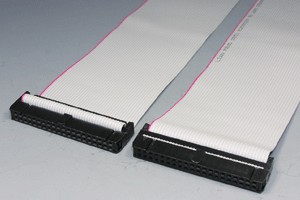 MILソケットケーブル 40pin フラットケーブル(メス-メス、ストレート結線) 【在庫限り販売中止】