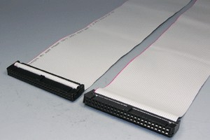 MILソケットケーブル 50pin フラットケーブル(メス-メス、ストレート結線)