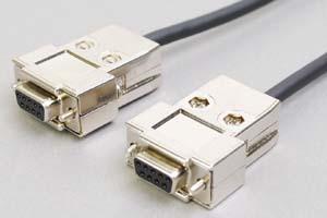 耐屈曲ロボット電線 RS-232Cケーブル 9pinメス-9pinメス ストレート結線
