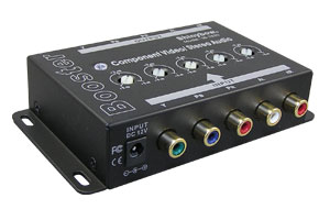 コンポーネントビデオ信号+オーディオ信号 エクステンダー:最大300m延長(映像信号延長器:1入力1出力タイプ/ブースト型) 【在庫限り販売中止】