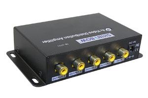コンポジットビデオ信号スプリッター (映像信号分配器:1入力4分岐)