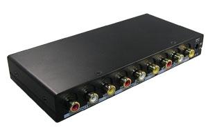 コンポジットビデオ信号+オーディオ信号 スプリッター(映像信号分配器:1入力2分岐) 【在庫限り販売中止】