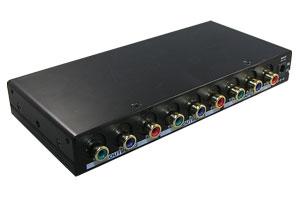 コンポーネントビデオ信号 スプリッター (映像信号分配器:1入力2分岐)