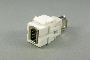 スナップイン中継コネクタ IEEE1394 6ピン メス
