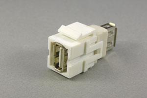 スナップイン中継コネクタ USBコネクタ(Aコネクタ メス) 【在庫限り販売中止】