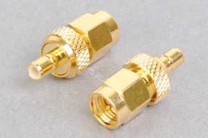 同軸コネクタ用変換アダプタ  SMAオス-SMBメス(インピーダンス50Ω)